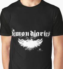 The Demon Diaries - White Logo Graphic T-Shirt