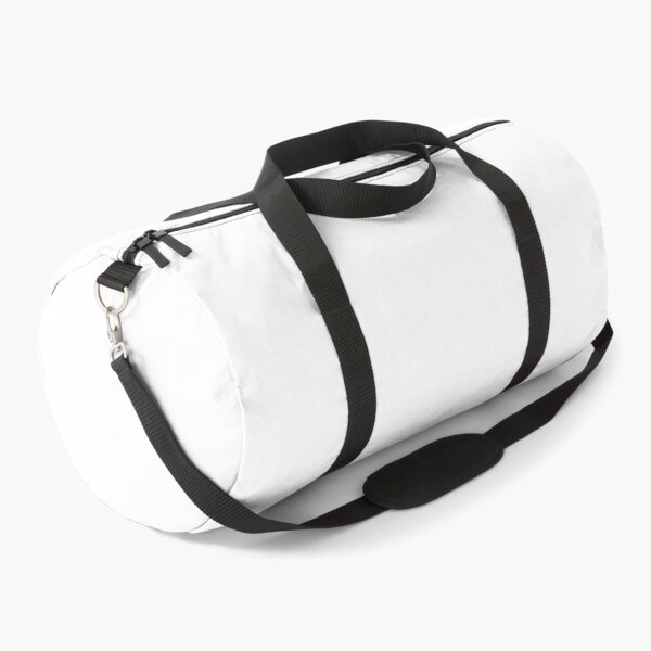 Plain White Simple Solid Designer Color All Over Color Duffle Bag
