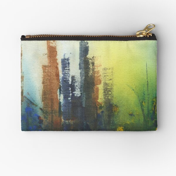 Watercolor Abstract Seasons Fall Winter Spring Summer Zipper Pouch