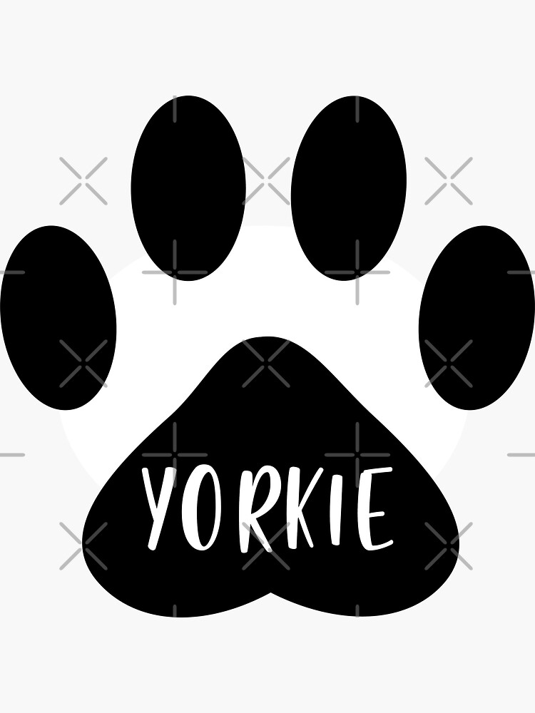Yorkie Paw Print Seal by chanzds
