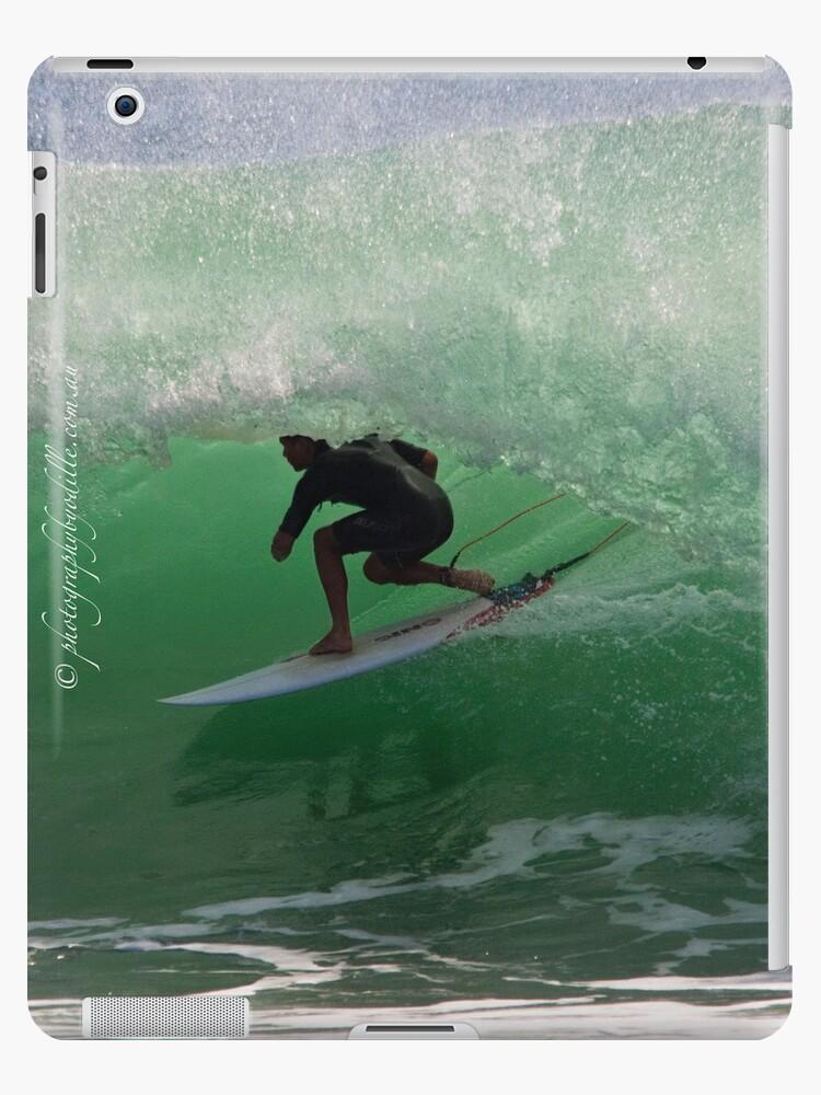 ipad case - Duranbah barrel 02022013 by Odille Esmonde-Morgan