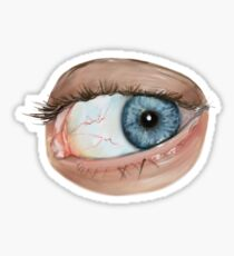 Blue Eye-V Sticker
