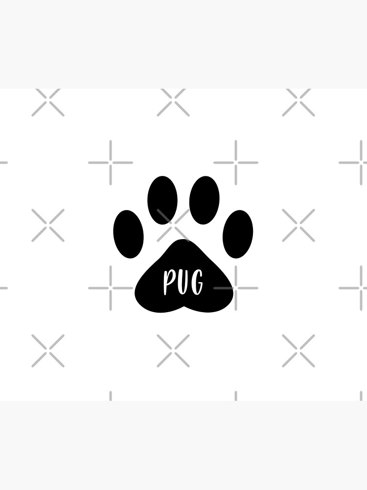 Pug Paw Print Seal by chanzds