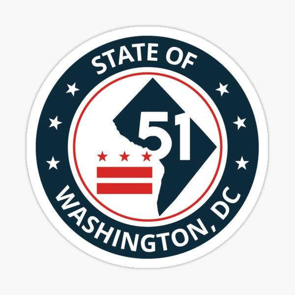 State of Washington map flag logo Sticker