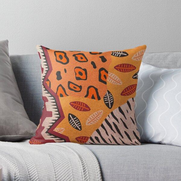 Geometric African Tribal Pattern Throw Pillow