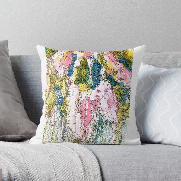 Bird Cherry Blossom Throw Pillow
