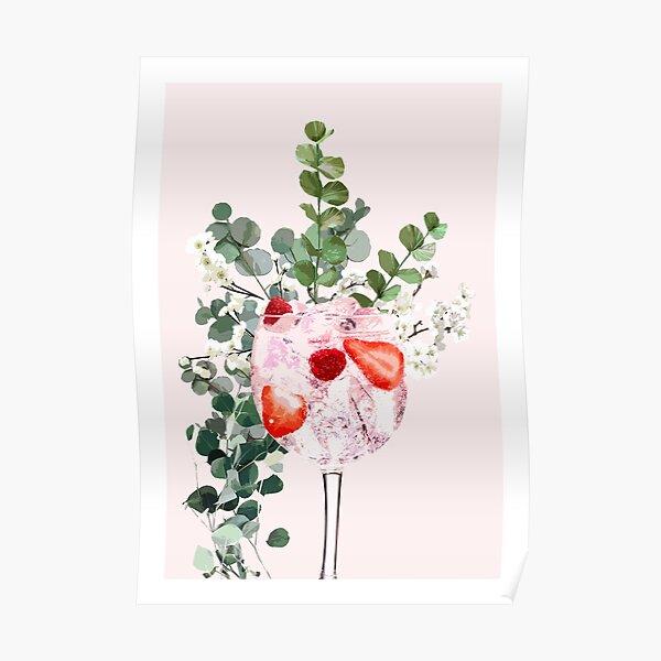 Pink Gin Glass Artwork Poster