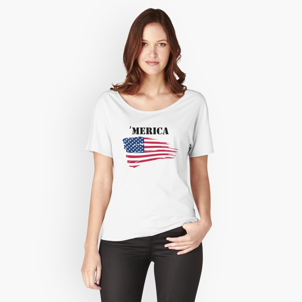 'Merica Women's Relaxed Fit T-Shirt Front