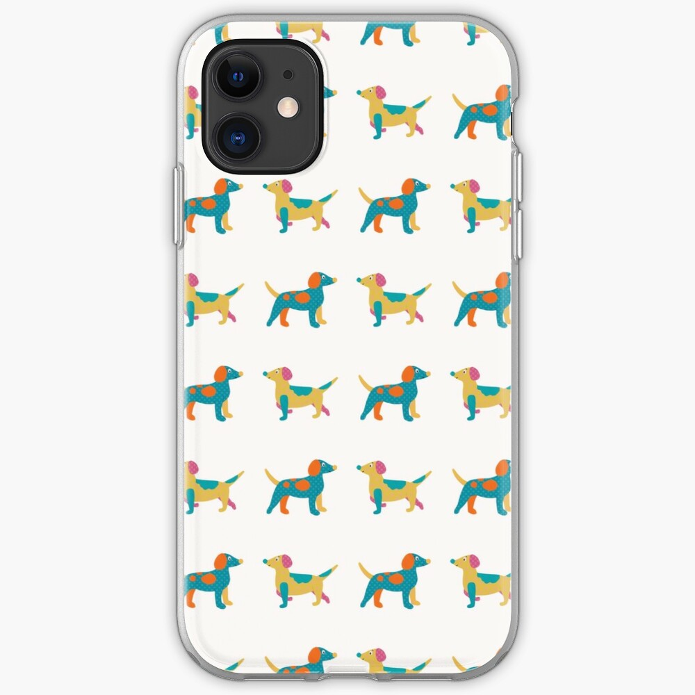 Paper Dogs Pattern iPhone Case & Cover