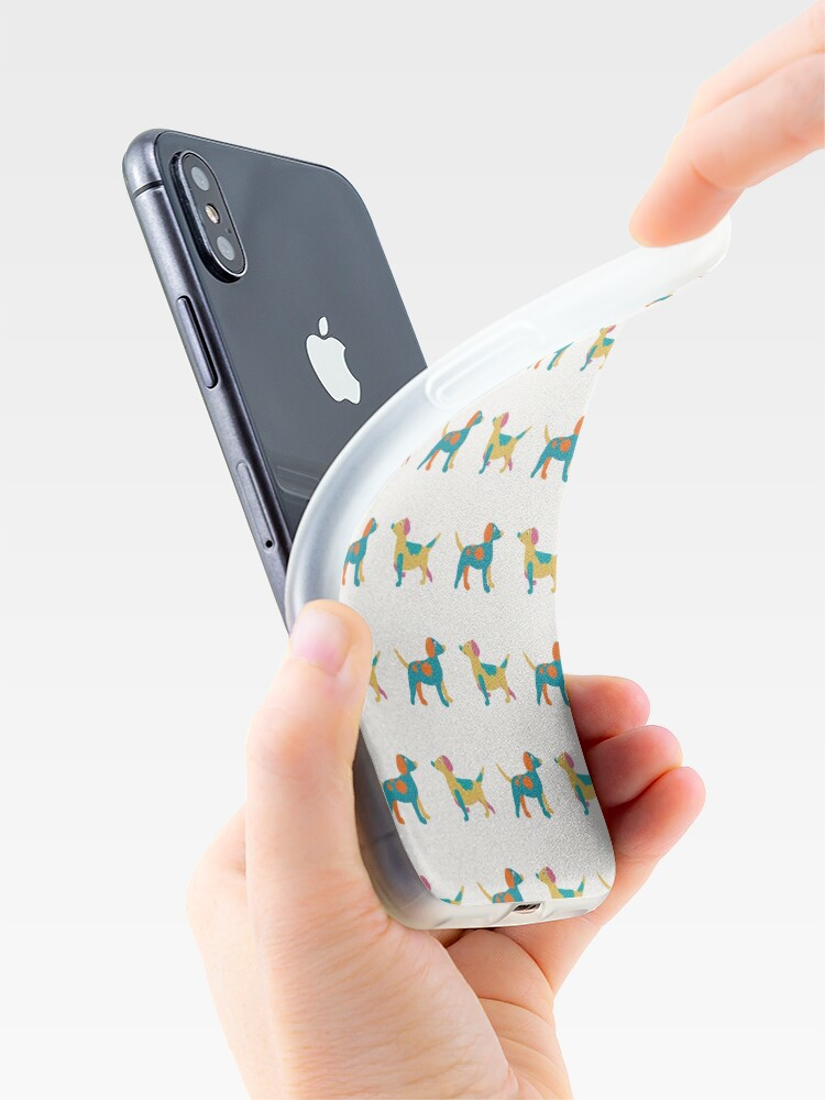Alternate view of Paper Dogs Pattern iPhone Case & Cover