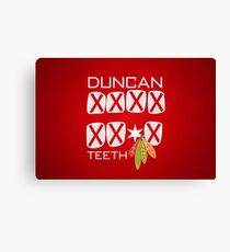Duncan Teeth_X Canvas Print