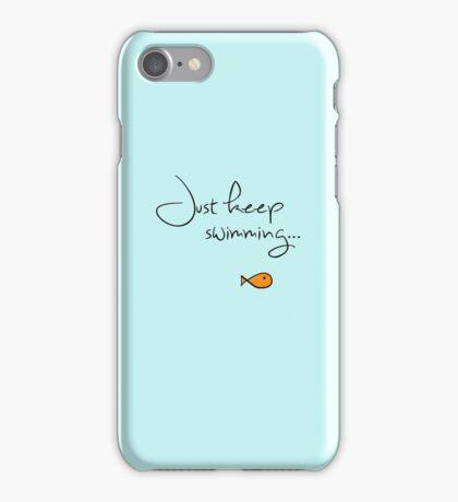 What do we do? We swim, swim. iPhone Case/Skin