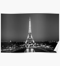 Eiffel Tower in Black & White Poster