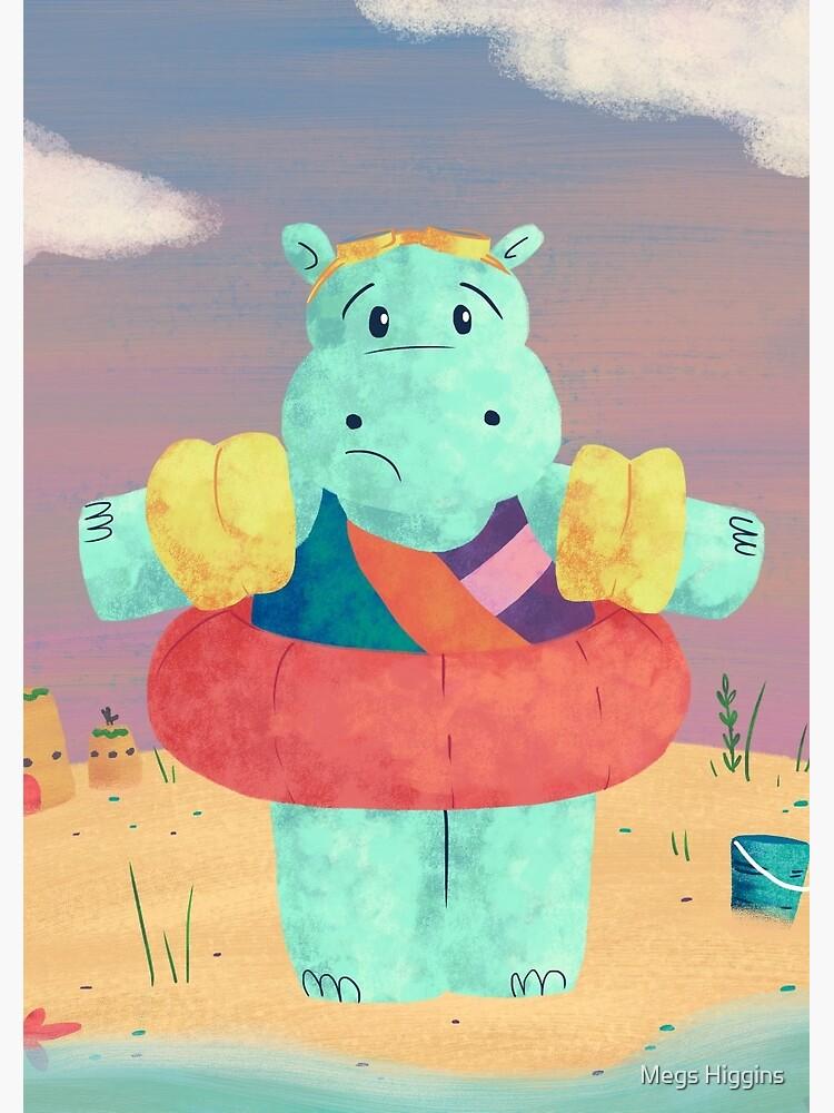 Nervous Beachy Hippo by megsneggs