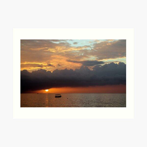 Negril Beach Sunset Art Print
