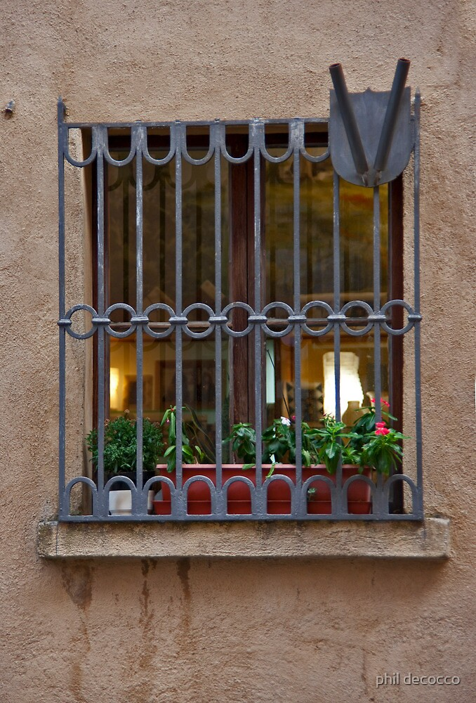 Tuscan Grilled Window by phil decocco