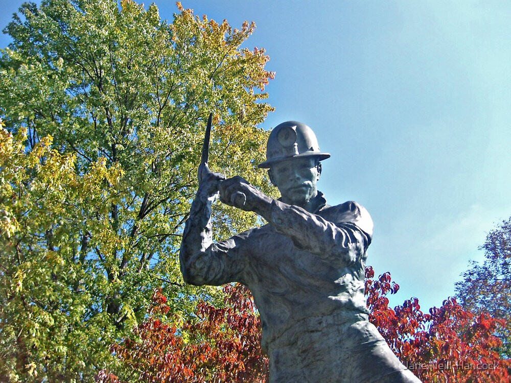 Miner Swinging His Pick Axe by Jane Neill-Hancock