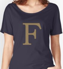 Weasley Sweater - F (All letters available!) Women's Relaxed Fit T-Shirt