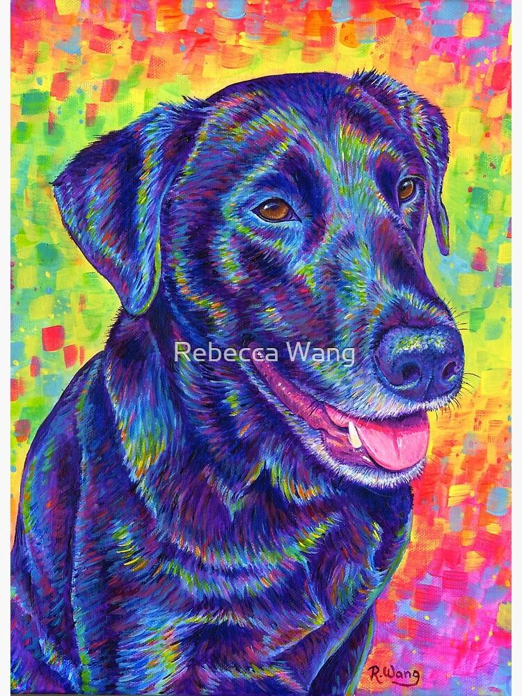 Happy Go Lucky - Rainbow Black Labrador Retriever by lioncrusher
