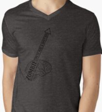 Zombie - Destroy the Brain Men's V-Neck T-Shirt