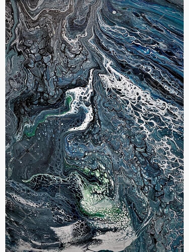 Acrylic Pour : Chaménos Okeanós by Smallenough-art
