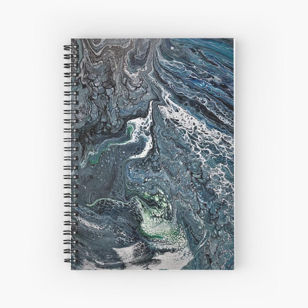 Acrylic Pour : Chaménos Okeanós Spiral Notebook