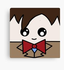 Dr Who 11th Doctor Squ'ed Canvas Print