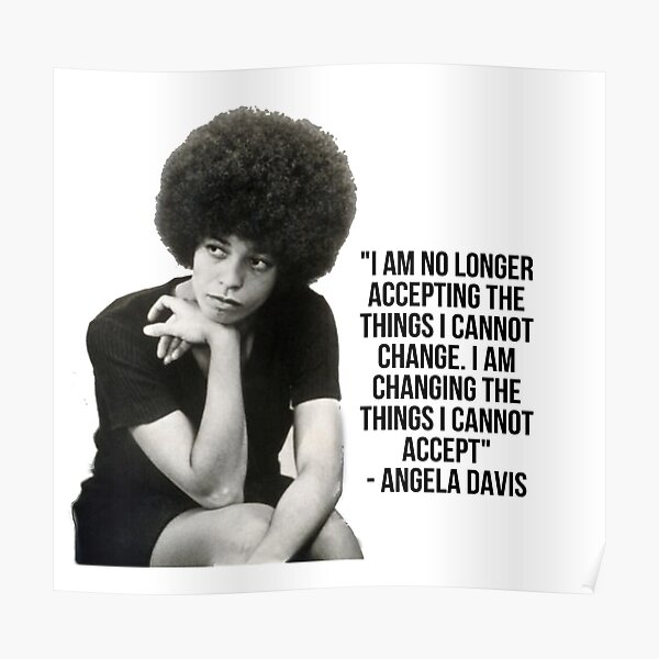 Citation d'Angela Davis Poster