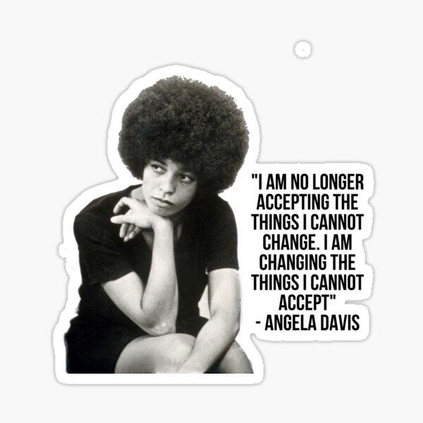 Angela Davis Quote Sticker