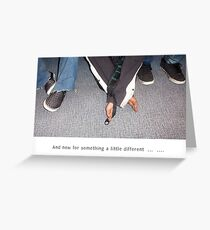 Something Different - Poor Mens' Feet Greeting Card