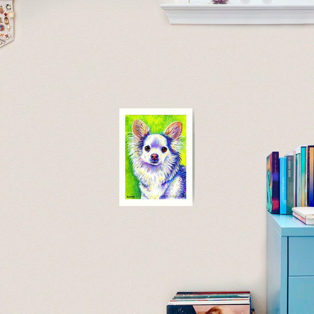 Colorful Cute Chihuahua Dog Art Print