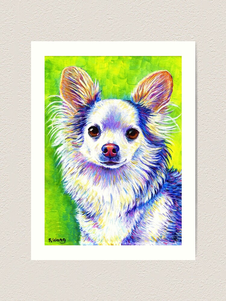 Alternate view of Colorful Cute Chihuahua Dog Art Print