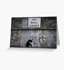 Banksy Greeting Card