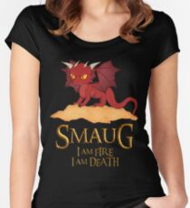 Smaug The Dragon Women's Fitted Scoop T-Shirt