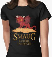 Smaug The Dragon Women's Fitted T-Shirt