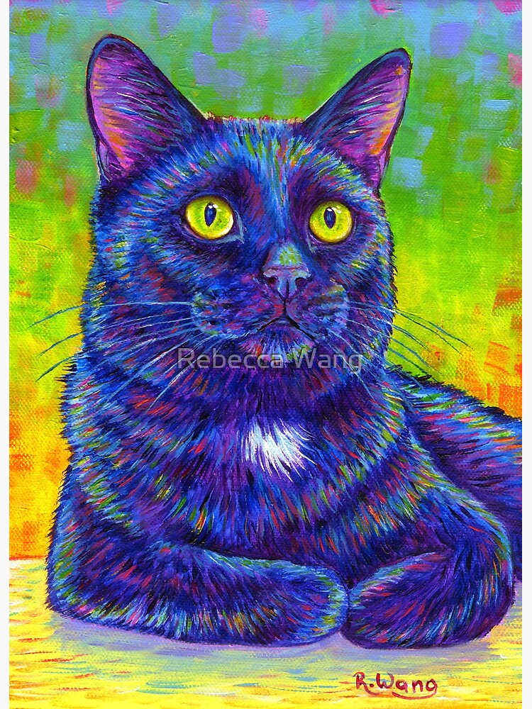 Little House Panther - Colorful Black Cat by lioncrusher