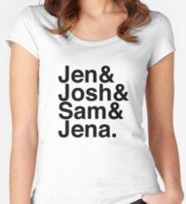 Jennifer & Josh & Sam & Jena. Women's Fitted Scoop T-Shirt