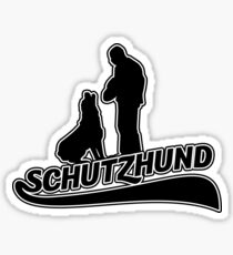 Schutzhund hold and bark with Rottweiler Sticker