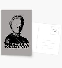 Downton Abbey What Is A Weekend Tshirt Postcards