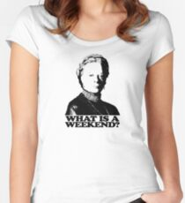 Downton Abbey What Is A Weekend Tshirt Women's Fitted Scoop T-Shirt