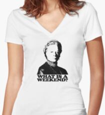 Downton Abbey What Is A Weekend Tshirt Women's Fitted V-Neck T-Shirt