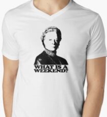 Downton Abbey What Is A Weekend Tshirt Men's V-Neck T-Shirt