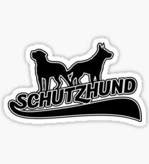 Skater style Schutzhund logo Sticker