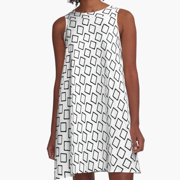 Plumbob A-Line Dress-Mondrian Graphic - Colorful Sequins Look-Disco BallGlitterPattern A-Line T-Shirt Dress A-Line Dress