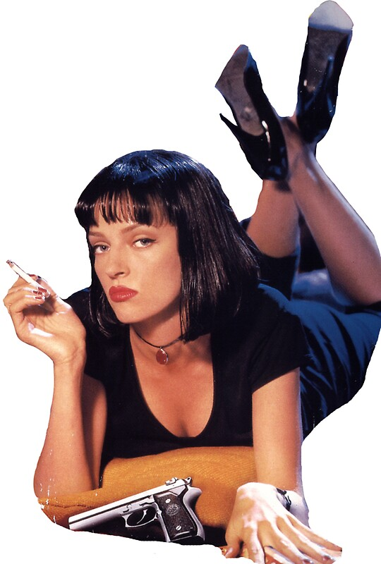 quotpulp fiction mia wallacequot stickers by frankieee redbubble