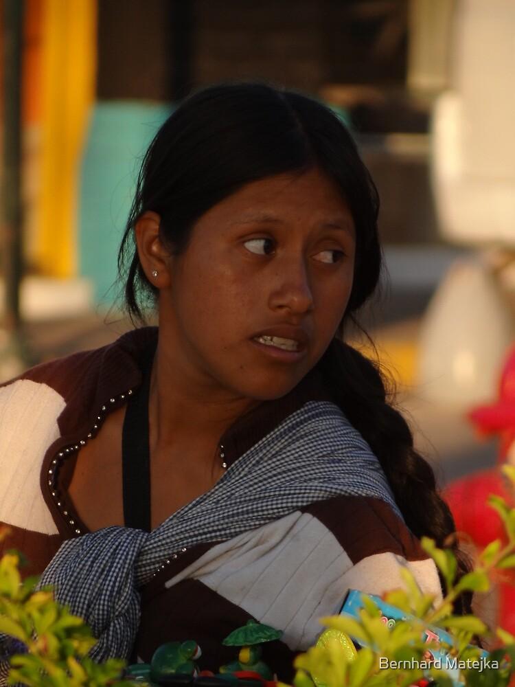 Young Indian Lady - Joven Señorita Indigena by Bernhard Matejka