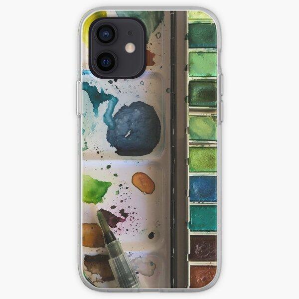 Watercolor Paint Palette iPhone Soft Case