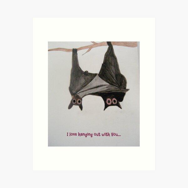 Batty Valentines Art Print