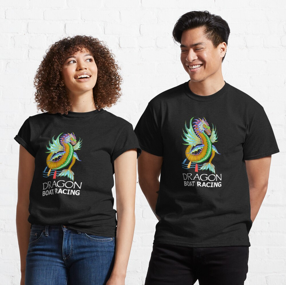 Gold and Green Water Dragon Boat Racing T-Shirt Classic T-Shirt