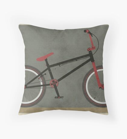 BMX Bike Throw Pillow